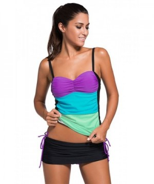 Sexybody Colorblock Skirtini Swimsuits Swimwear