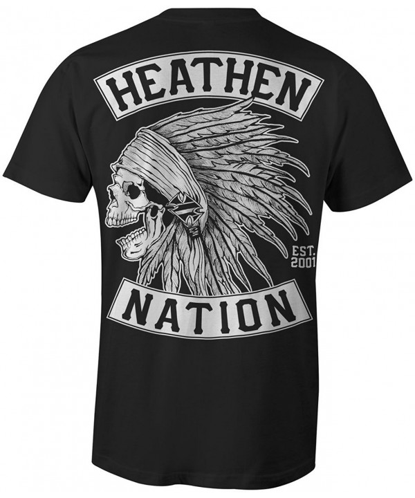 Heathen Mens Chief T Shirt Large