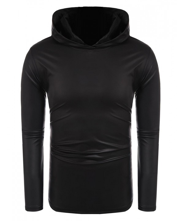 COOFANDY Nightclub Metallic Casual Pullover