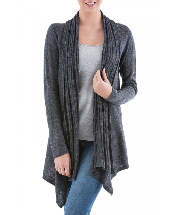 NOVICA Sleeves Cardigan Sweater Waterfall