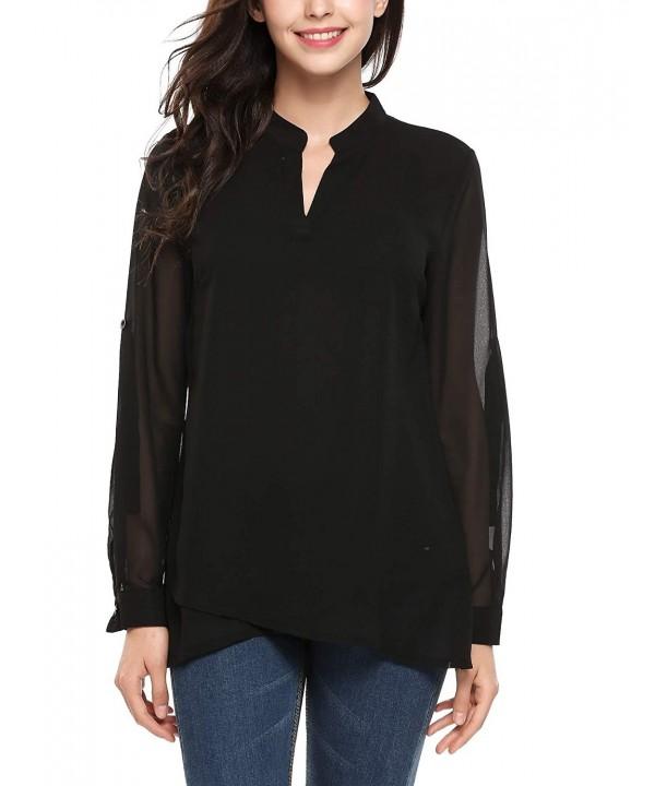 Zeagoo Casual Blouse Shirts Asymmetrical