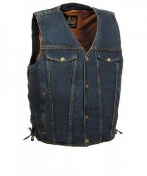 Mens Side Denim Chest Pockets