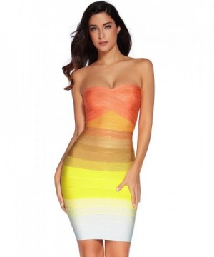 Meilun Knee length Bandage Bodycon Strapless