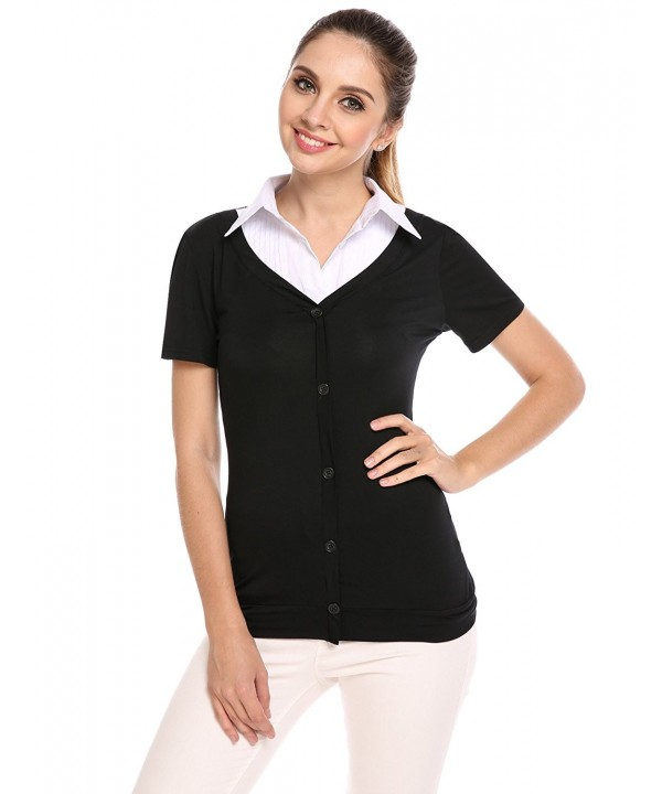 Zeagoo Womens Casual Button T Shirt