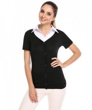 Zeagoo Womens Casual Button T Shirt