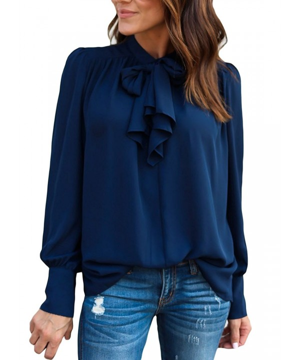 ROSKIKI Womens Sleeve Dressy Shirts