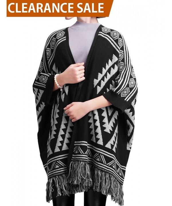 DELUXSEY Womens Aztec Cardigans Cardigan