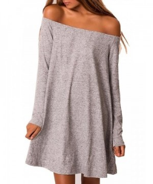 Clothink Women Shoulder Sleeve Casual