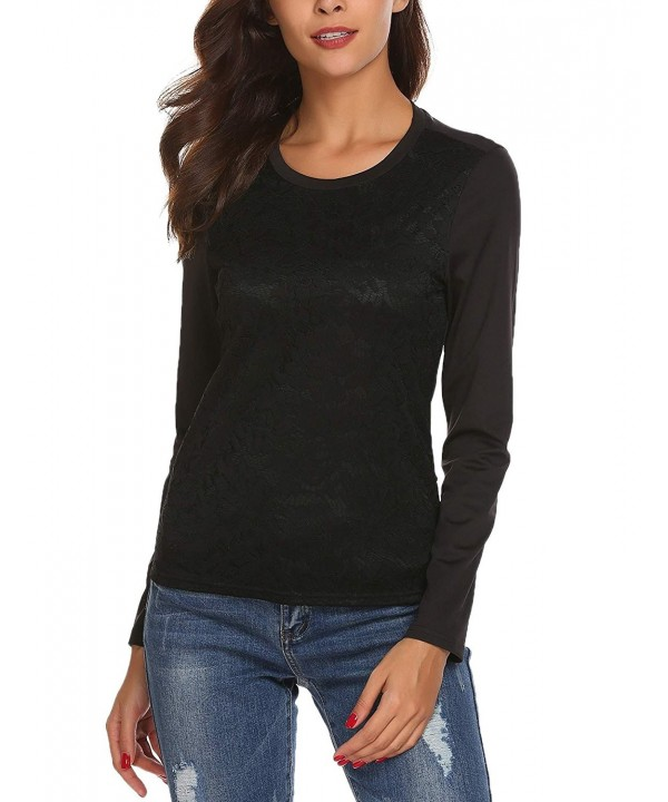 Mofavor Womens Fashion Patchwork Sleeves