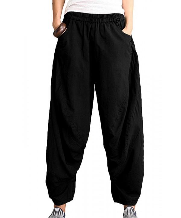 Mordenmiss Womens Elastic Pockets 1 M Black