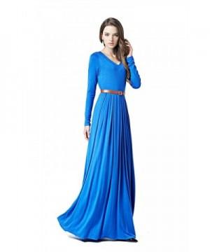 Long Elegant Cocktail Evening Blue