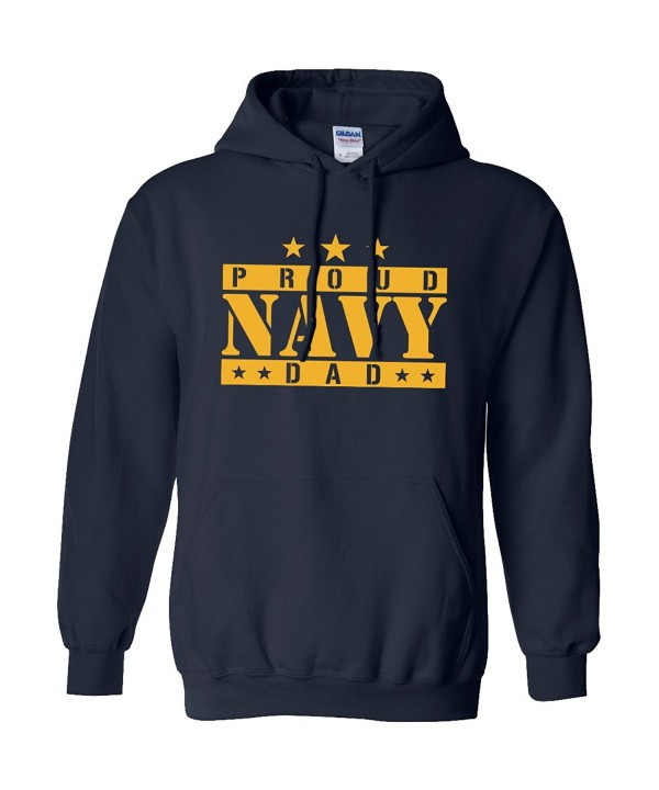 Proud Navy Dad Hooded Sweatshirt