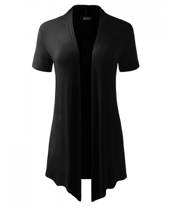 Classic Asymmetrical Short Sleeve Cardigan X Large