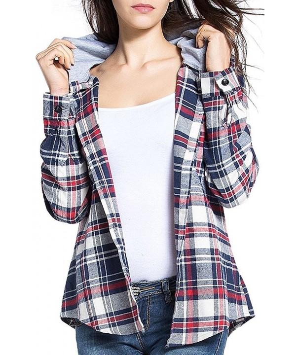 BomDeals Womens Classic Cotton Button up