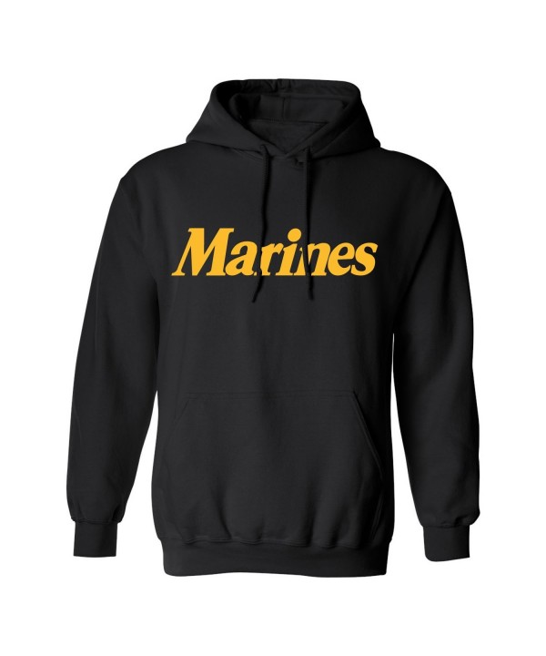 Gold Marines Hooded Sweatshirt Black
