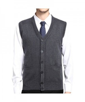 MAGE MALE Sweaters Button Front Sleeveless