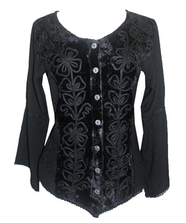 504 Renaissance Vintage Blouse Black