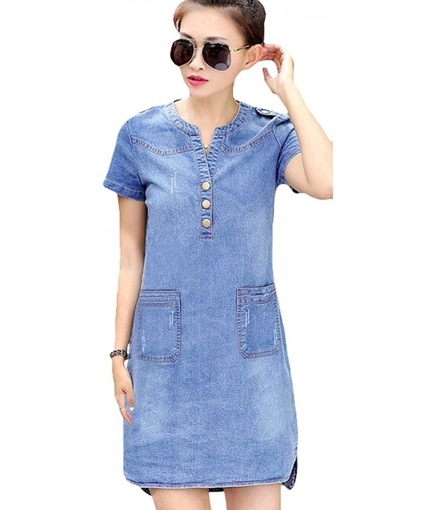 Youhan Womens Vintage Fitted Blue