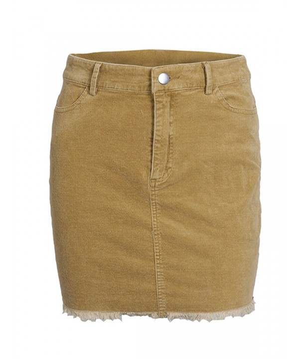 Glamaker Womens Autumn Corduroy Pockets
