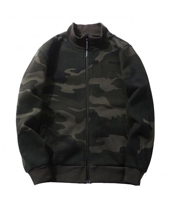Mens Camo Full Sweatshirts Green