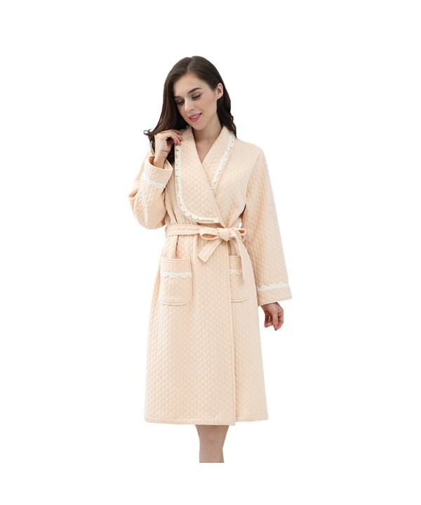 JOHN ELAINE Bathrobe Textured Sleepwear