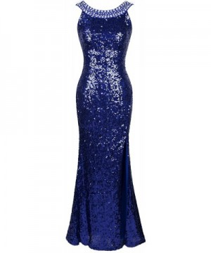 Angel fashions Womens Beading Sequin Backless
