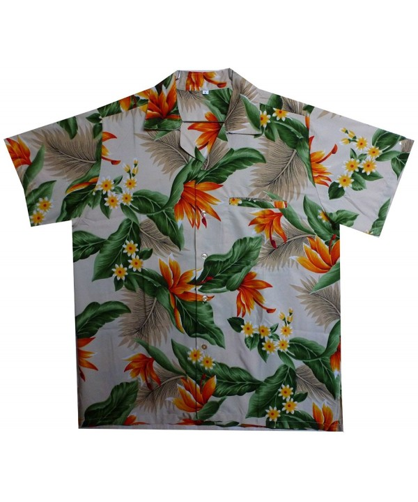 Funky Hawaiian Shirt Streli white