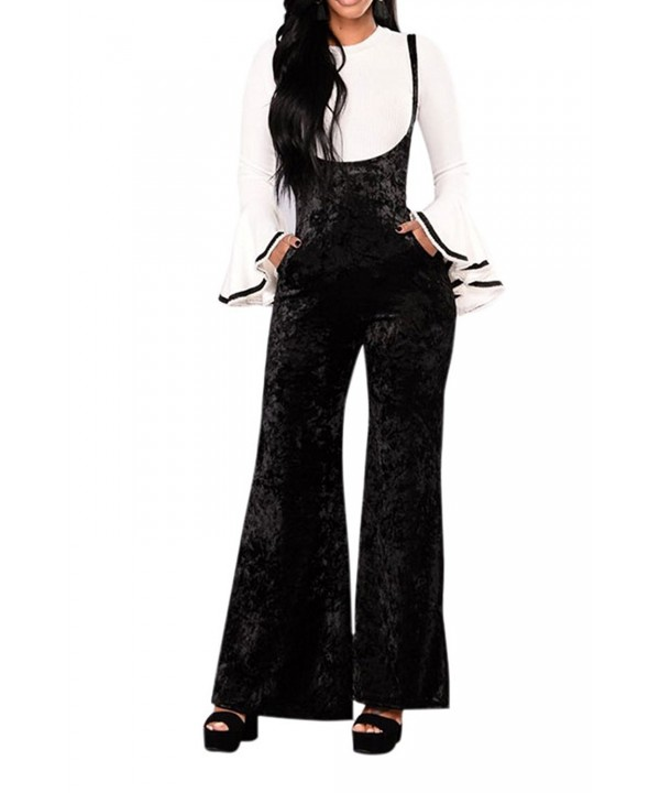Fixmatti Stretch Velvet Suspender Overalls