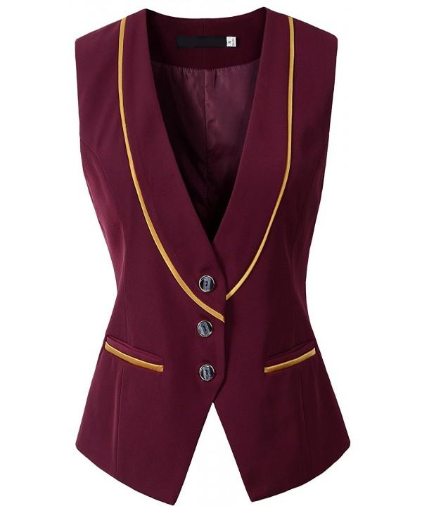 Vocni V Neck Buttoned Business Waistcoat