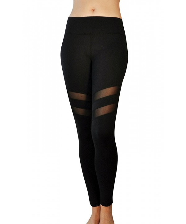 Comfy Yoga Mesh Panel Leggings