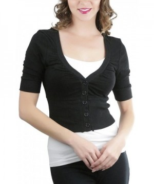 ToBeInStyle Womens V Neck Button Down Cardigan