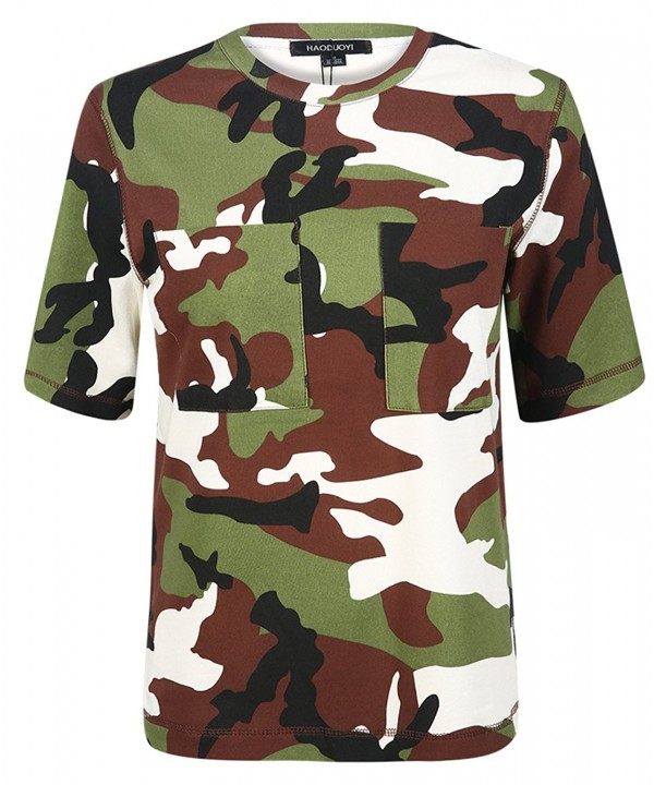 hodoyi Casual Camouflage Sleeve Multicoloured