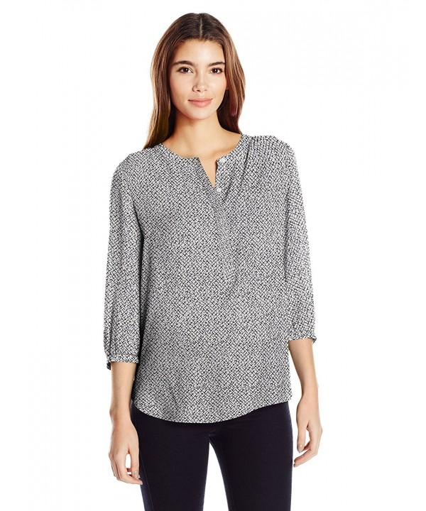 NYDJ Womens Sleeve Crosshatch Terrace