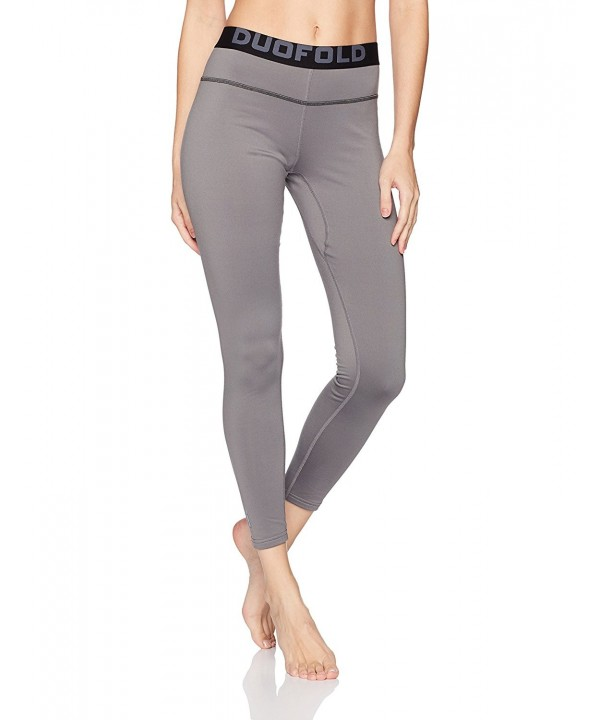 9cdd44fe596cc Women's Mid Weight Fleece Lined Thermal Legging - Thundering Gray ...
