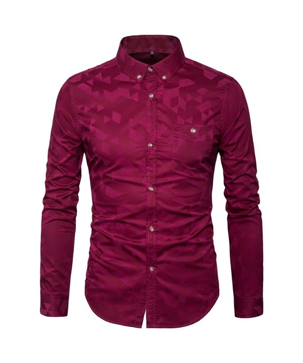MUSE FATH Printed Men Cotton Shirt Wine