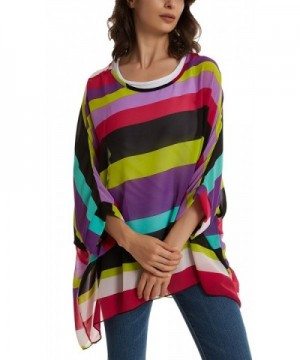 Womens Shoulder Batwing Sleeve multicolor