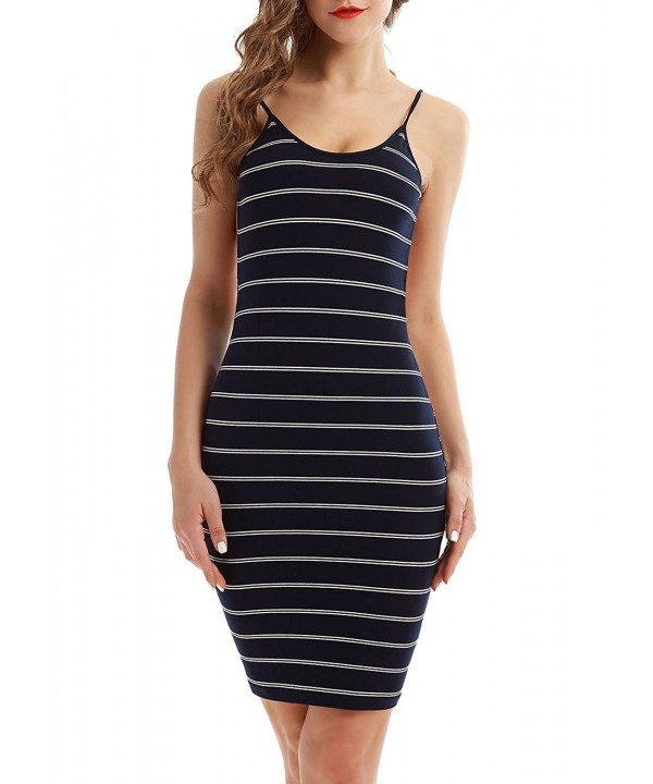Vin Spaghetti Stripes Backless Bodycon