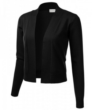 FLORIA Womens Classic Cropped Cardigan