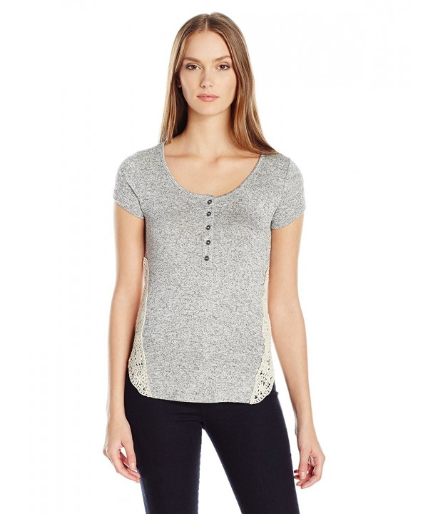 Paper Tee Womens Marbled Crochet
