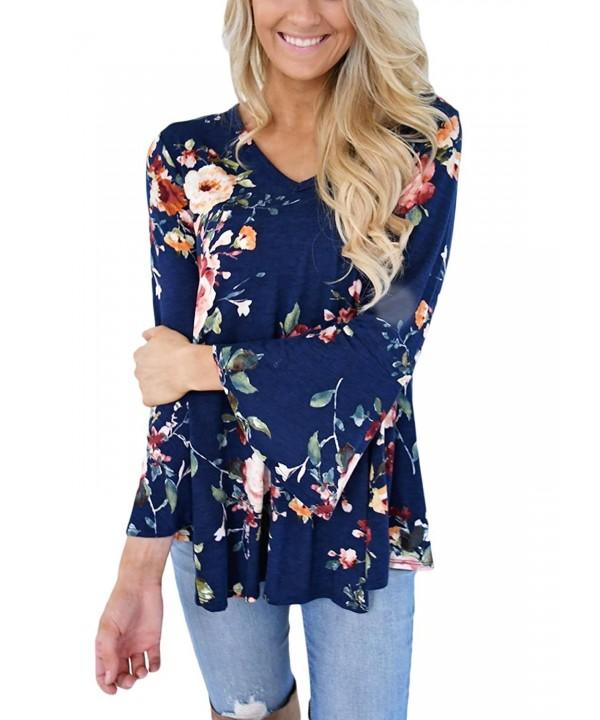 FARYSAYS Womens Casual Floral Sleeve