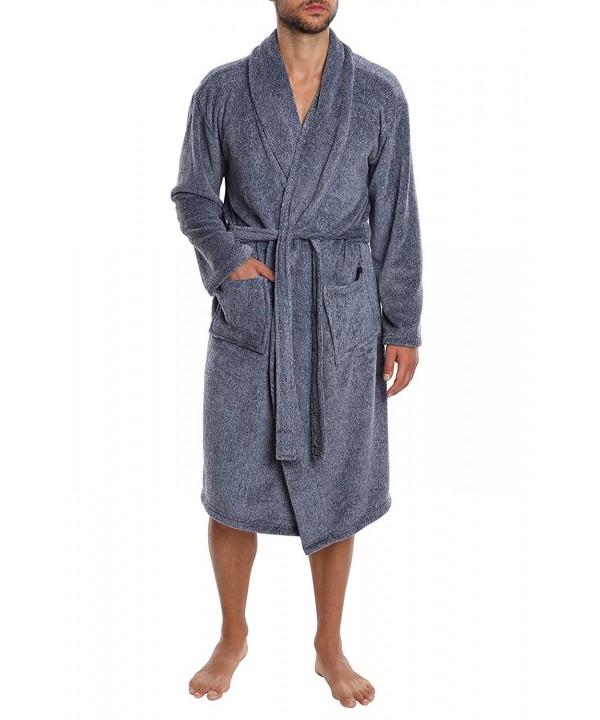JACHS Mens Plush Robe Weekender
