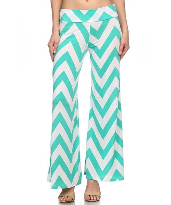 Fashiondio Womens Palazzo Pants CHEVRON