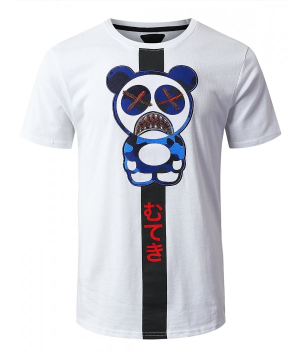 URBANCREWS Hipster Character Graphic T Shirt