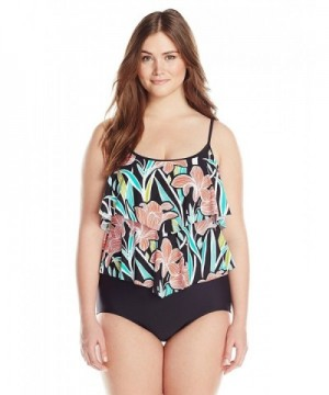 Maxine Hollywood Womens Linear Swimsuit