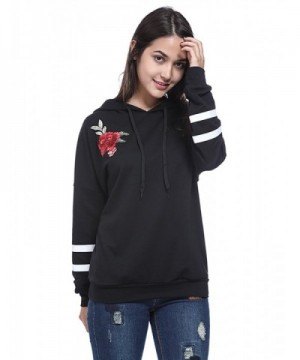 Fancyqube Womens Embroidered Sweatshirt Pullover