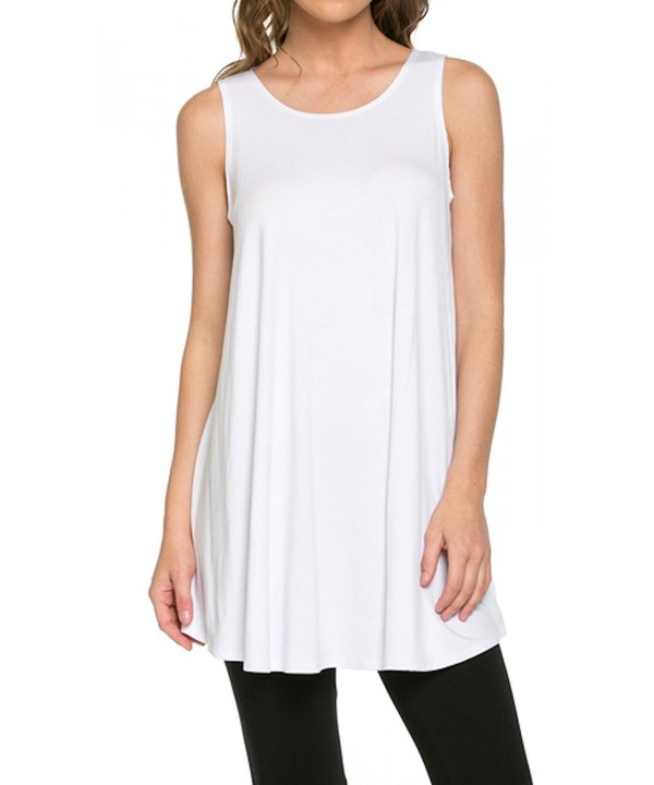 Womens Rayon Span Tunic Solid White
