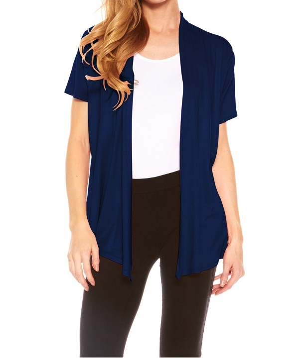 Velucci Womens Sleeve Draped Cardigan