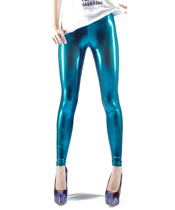 Elastic Wonder Metallic Scattered Leggings