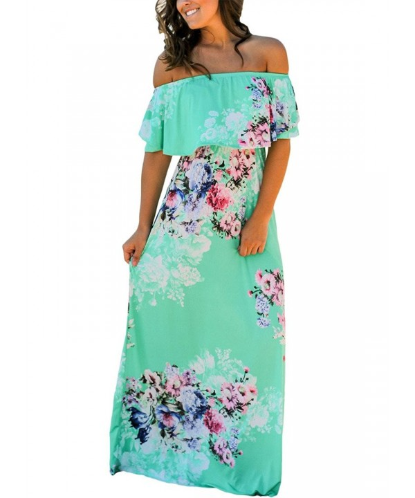 Happy Sailed Floral Shoulder Dresses