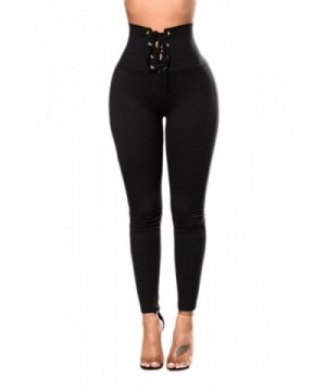 Womens Lace up Cincher Control Leggings